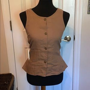 Brown button down tank top